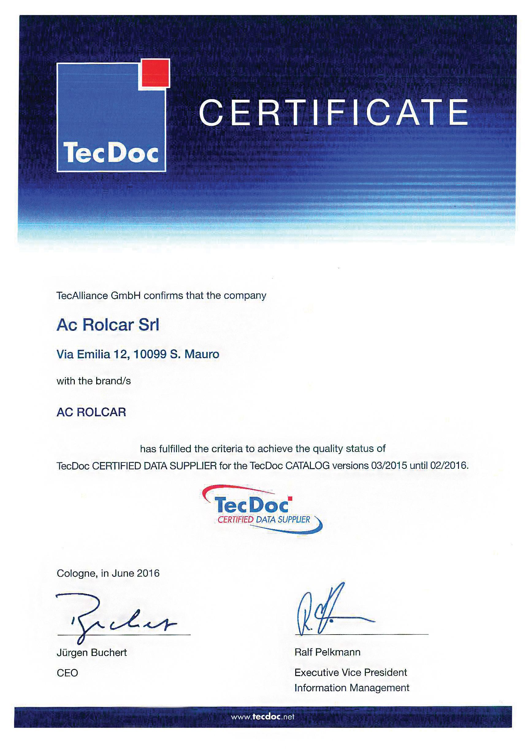 tec doc certified data supplier acrolcar s r l acrolcar. Black Bedroom Furniture Sets. Home Design Ideas